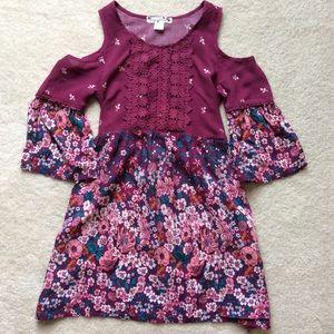 Girls Off Shoulder Dress Size 7